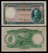 Straits Settlements $10 1934 KGVI AVF