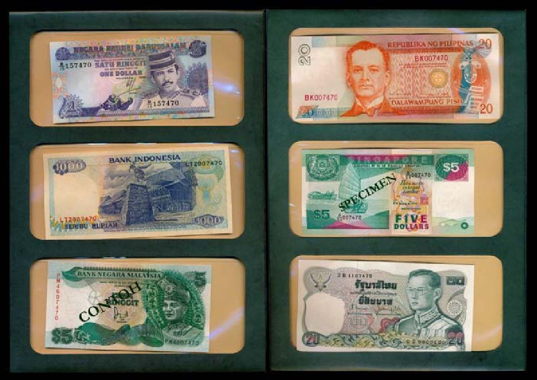 World banknotes of ASEAN countries