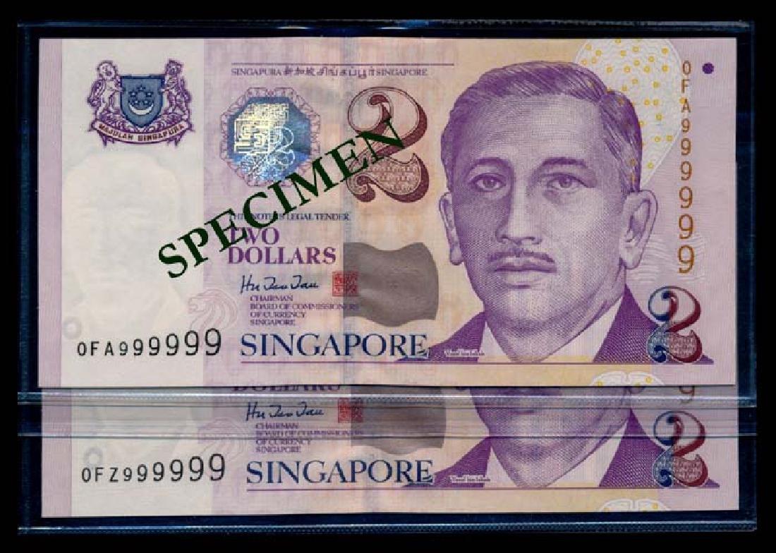 Singapore 24x$2 1999 HTT 0FA-0FZ 999999