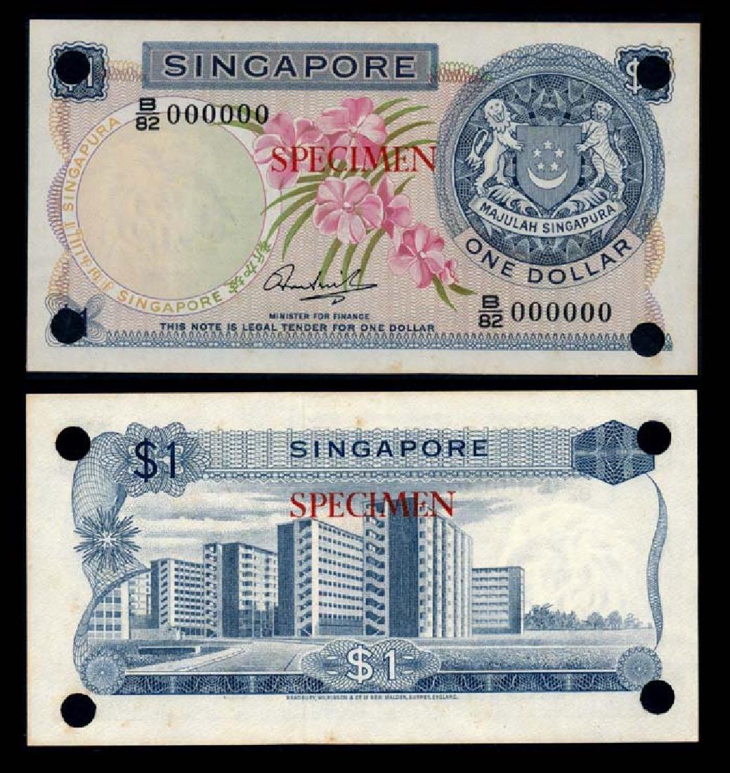 Singapore $1 1971 HSS w/o seal specimen