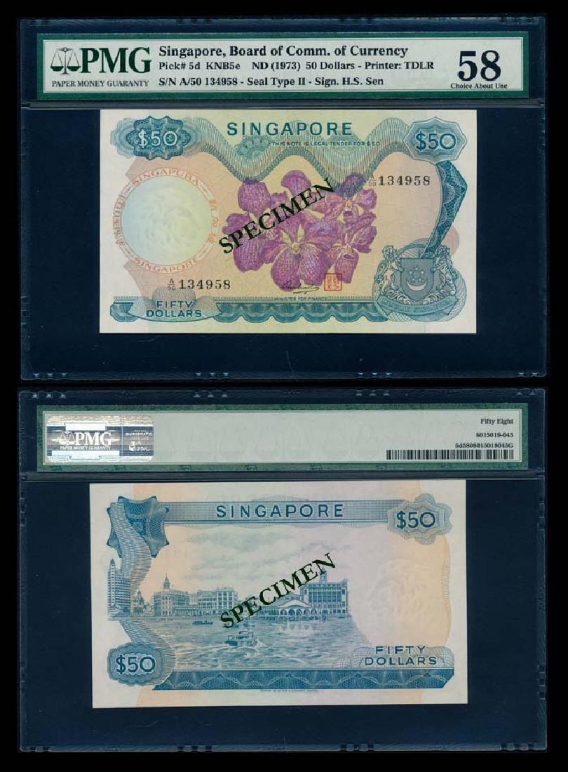 Singapore $50 1973 HSS w/seal PMG