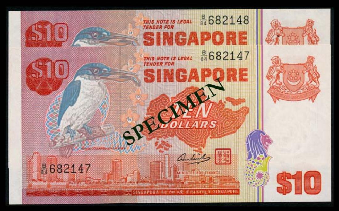 Singapore 2x$10 1976 bird AU
