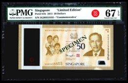 Singapore SG50 $50 SG50 555555 PMG