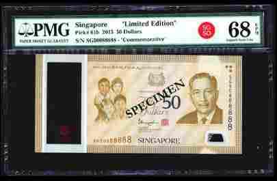 Singapore SG50 $50 SG50 888888 PMG