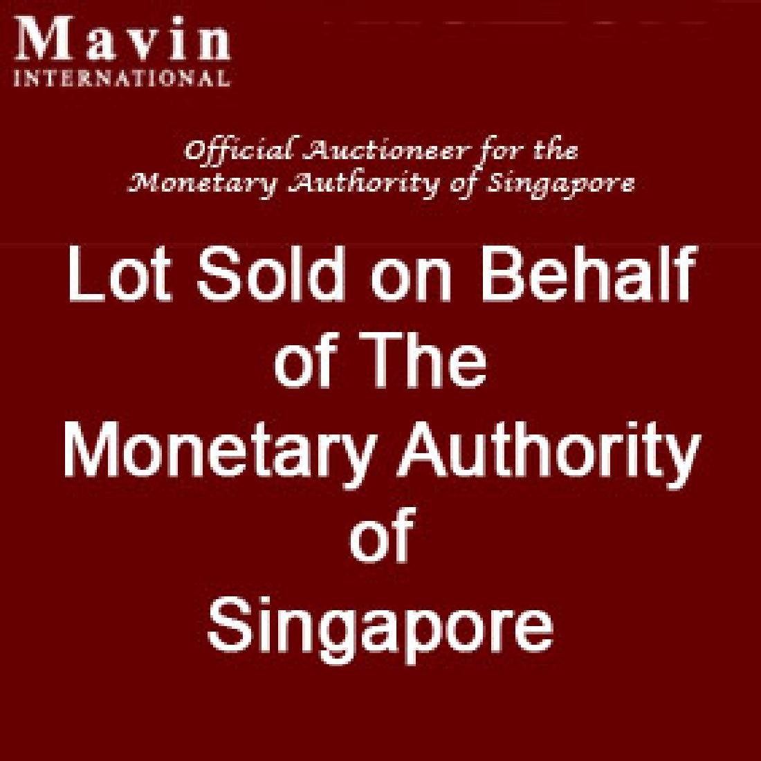 Singapore $5 TS 5 uncut sheets of 3