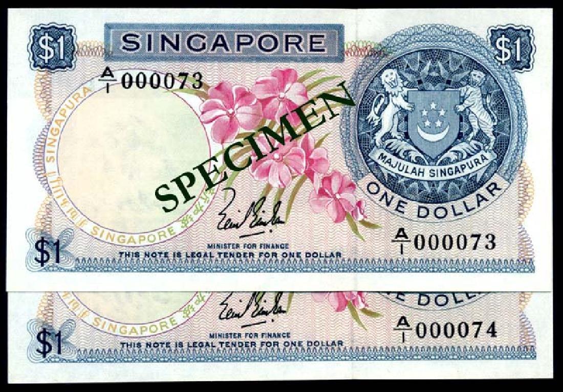 Singapore 2x$1 1967 LKS A/1 000073-074