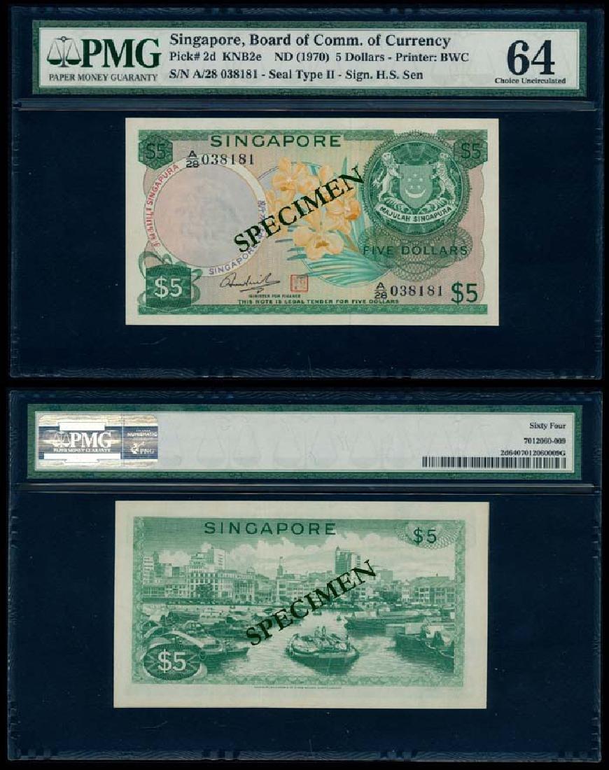 Singapore $5 1973 HSS w/seal PMG