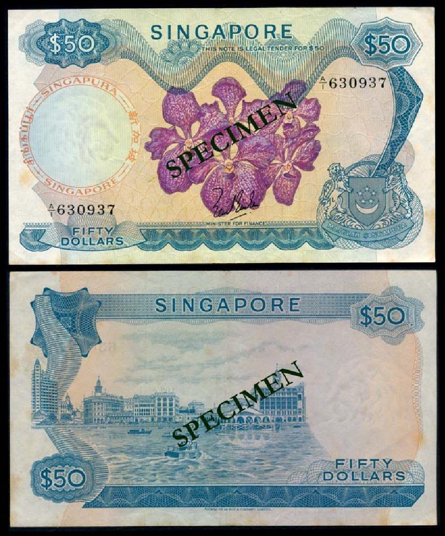 Singapore $50 1967 LKS 1st prefix VF