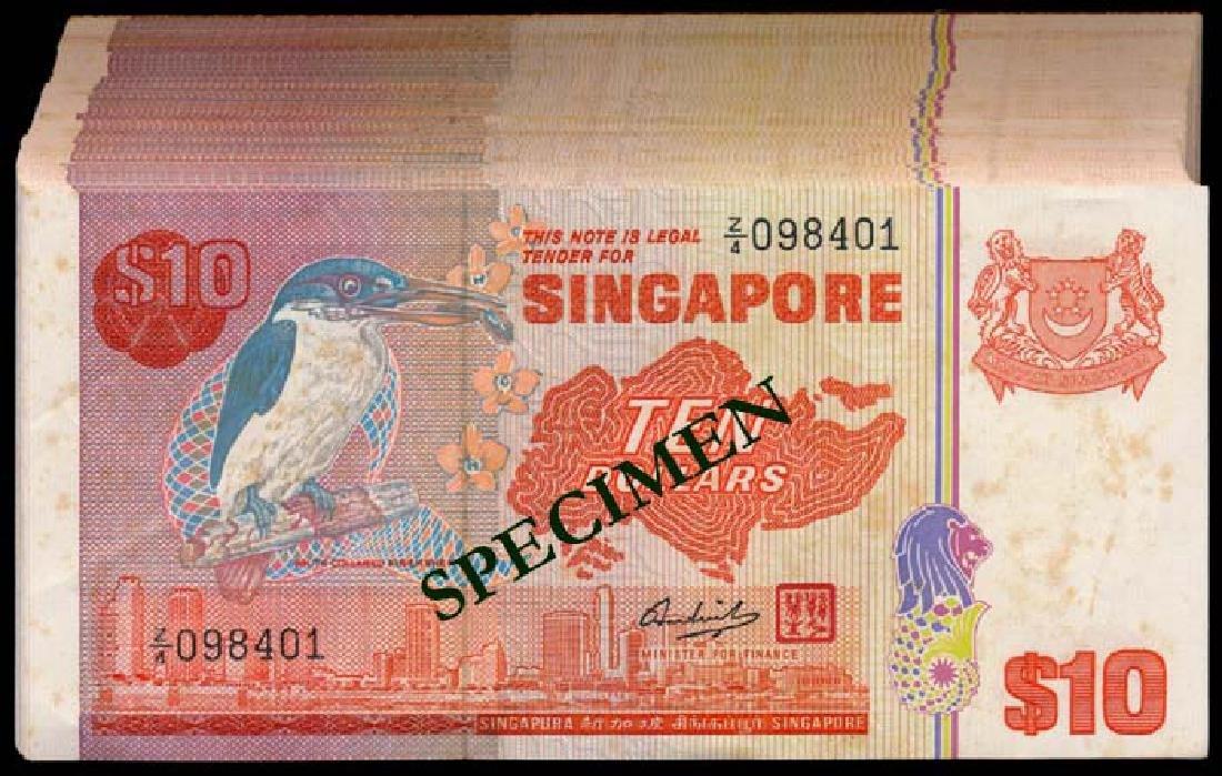 Singapore 100x$10 1976 bird