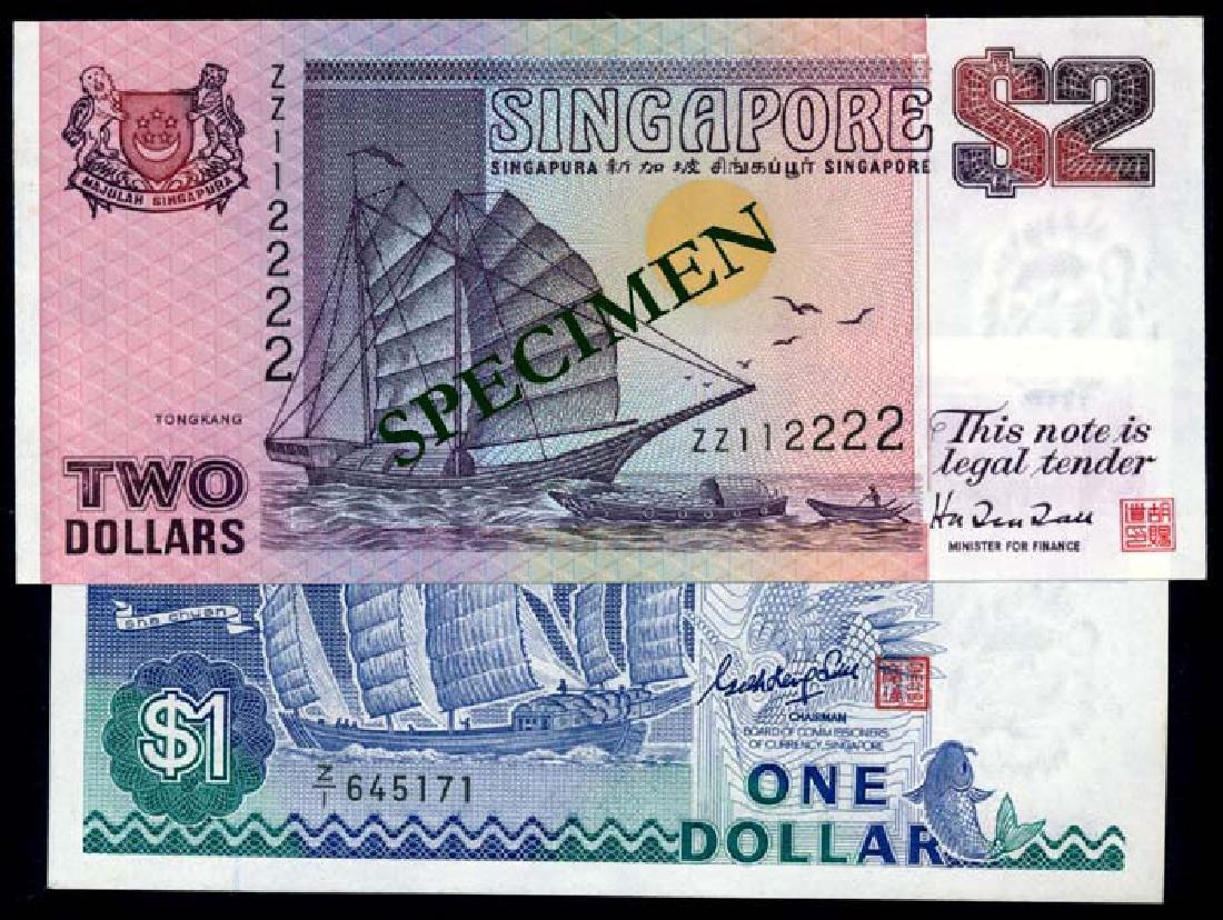 2 Singapore $1-$2 1987-92 ship