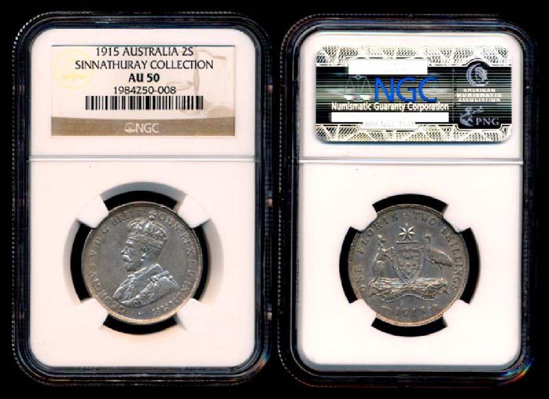 Australia KGV 2 Shillings 1915(L) NGC AU50