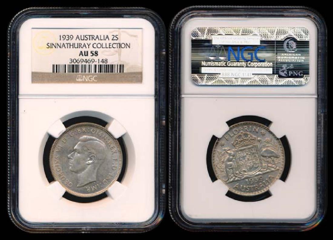 Australia KGVI 2 Shillings 1939(m) NGC AU58