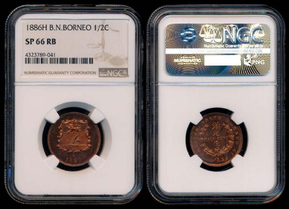British North Borneo 1/2c 1886H specimen NGC