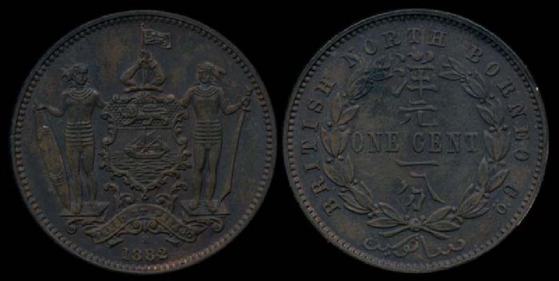 British North Borneo 1c 1882H AU-UNC