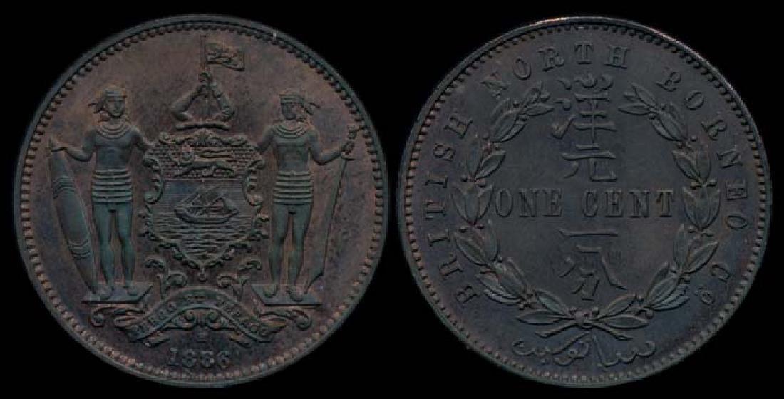 British North Borneo 1c 1886H AU-UNC