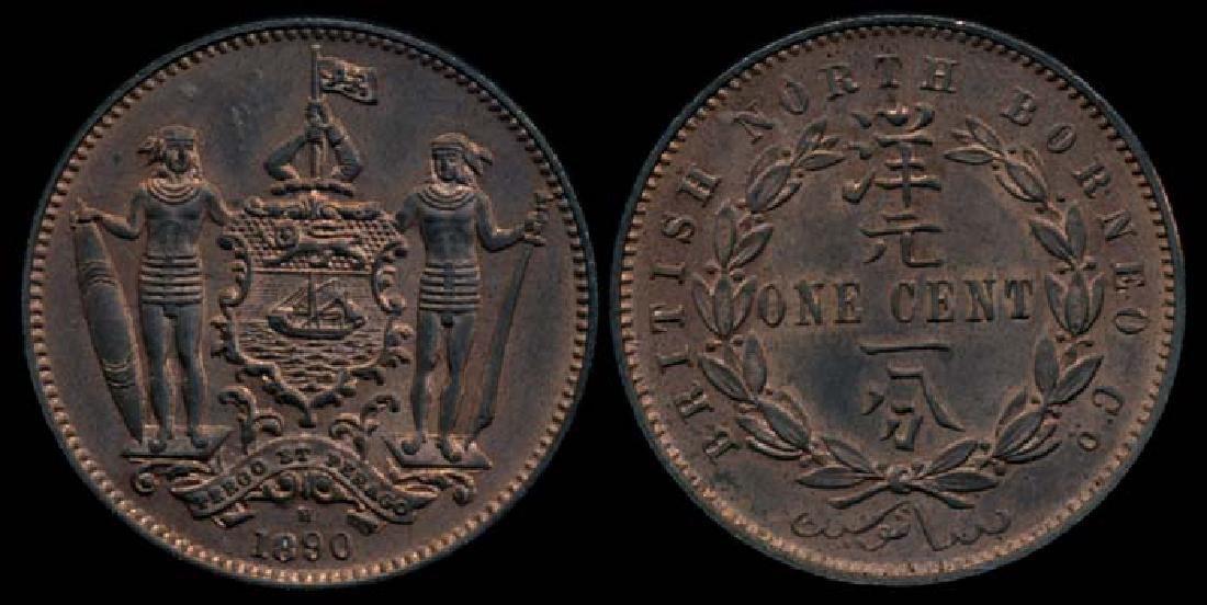 British North Borneo 1c 1890H AU-UNC