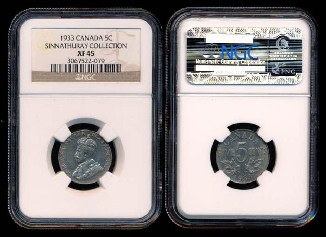 Canada KGV 5c 1933 NGC XF45