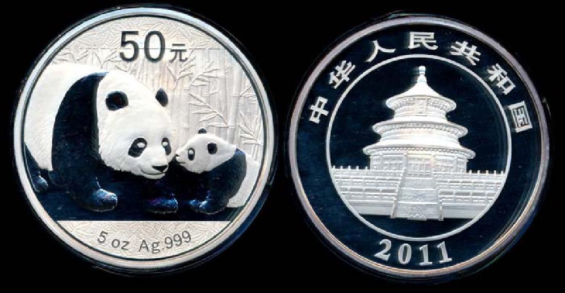 China Republic Panda 50 Yuan 2011 proof