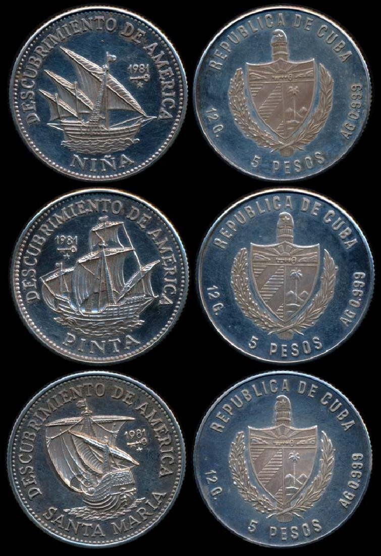 Cuba 3x5 Pesos 1981