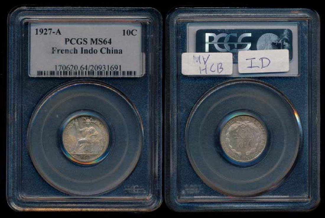 French Indo-China 10c 1927A PCGS MS64