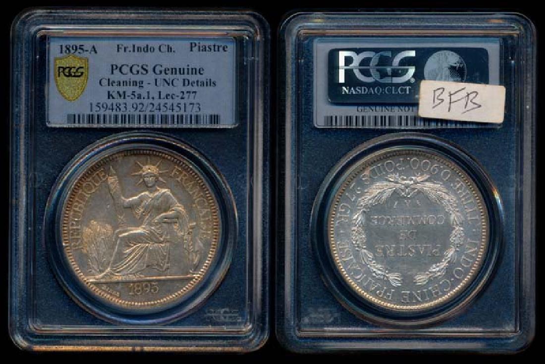 French Indo-China Piastre 1895A PCGS Genuine