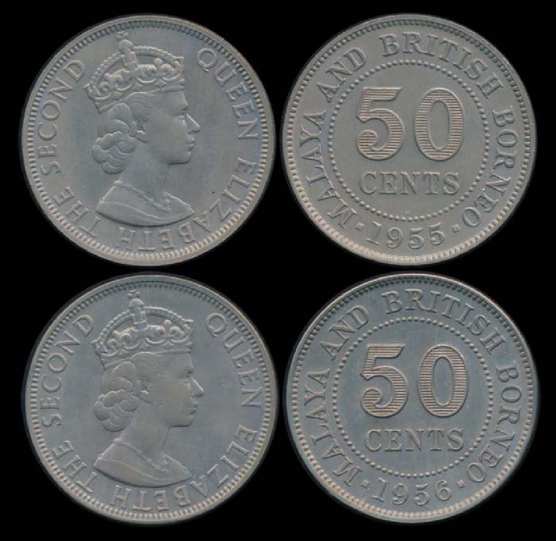 Malaya Br Borneo QEII 50c 1955H 1956