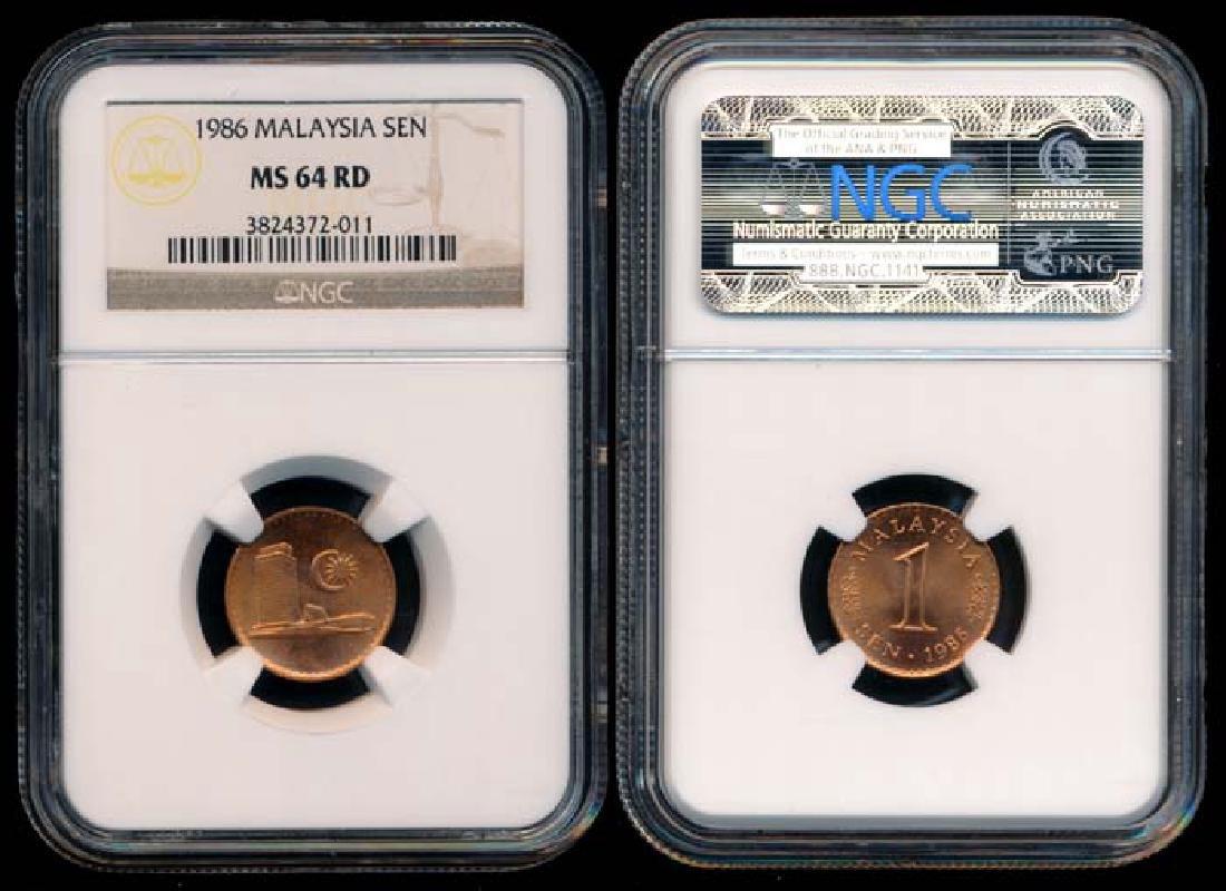 Malaysia Sen 1986 NGC MS64RD