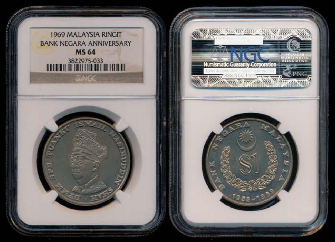 Malaysia Ringgit 1969 NGC MS64