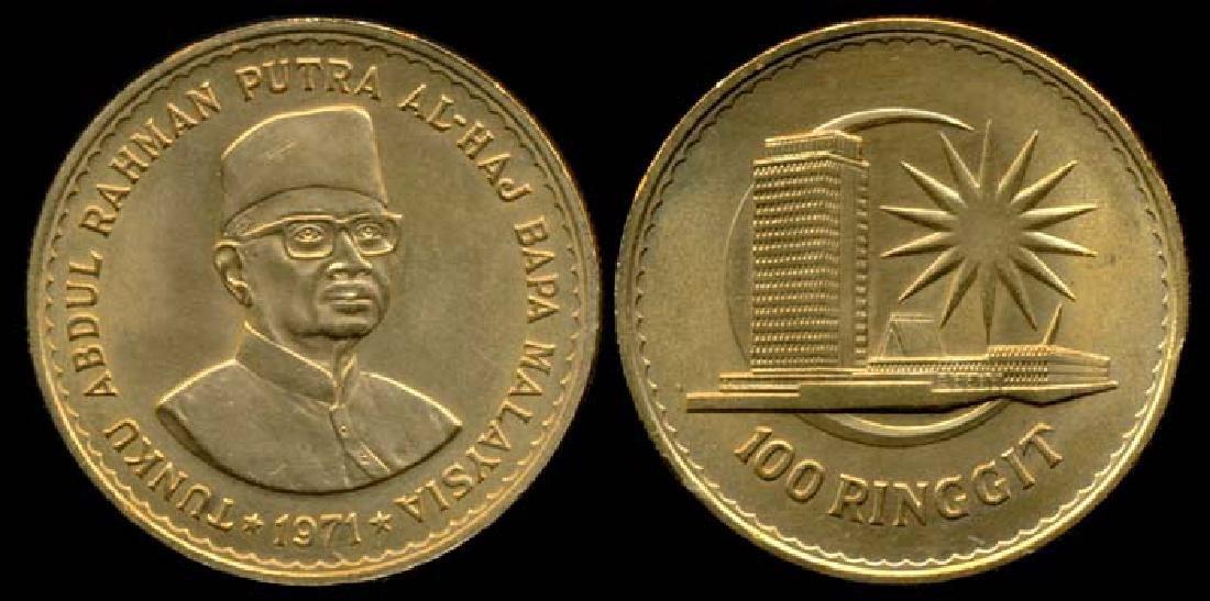 Malaysia 100 Ringgit 1971 gold AU-UNC