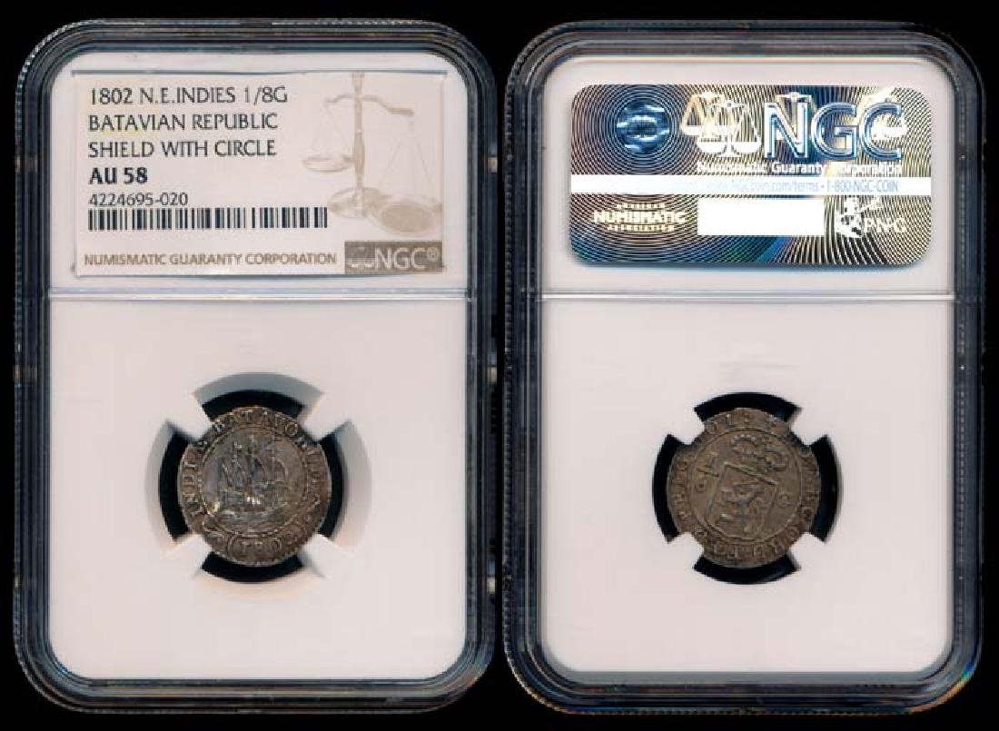 Netherlands East Indies 1/8 Gulden 1802 NGC
