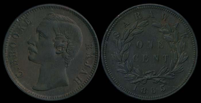 Sarawak C Brooke 1c 1885 AU