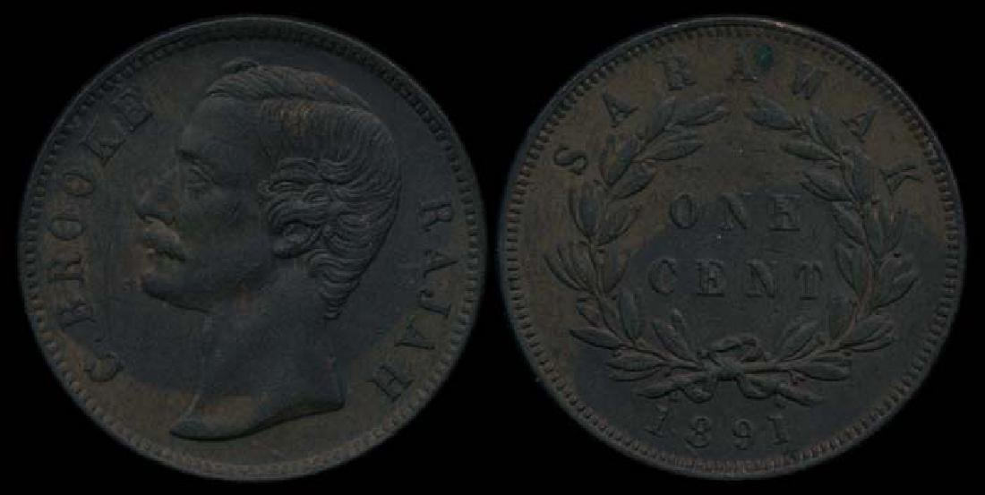 Sarawak C Brooke 1c 1891 EF