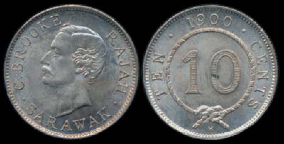 Sarawak C Brooke 10c 1900H AU-UNC