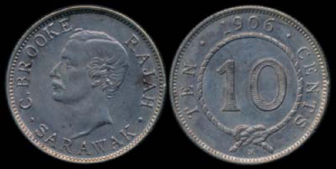 Sarawak C Brooke 10c 1906H AU