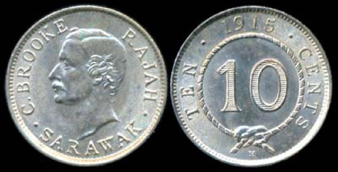 Sarawak C Brooke 10c 1915H AU-UNC