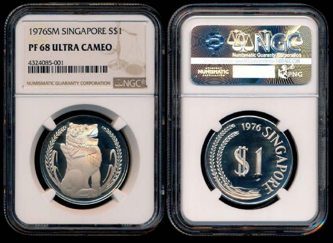 Singapore $1 1976SM proof NGC PF68UC