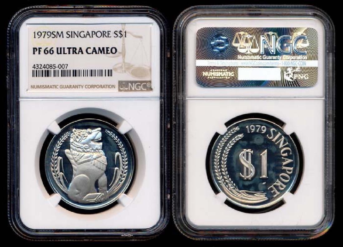 Singapore $1 1979SM proof NGC PF66UC