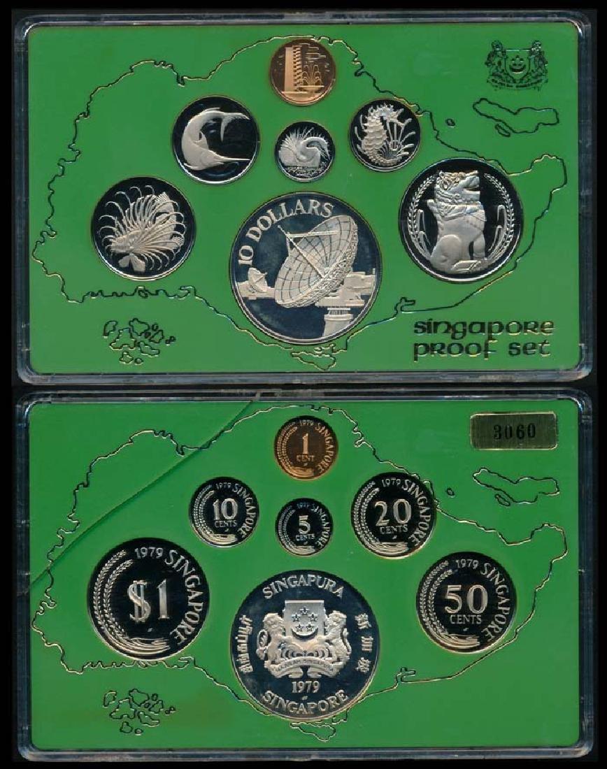 6 Singapore 1c-$1 1979 proof
