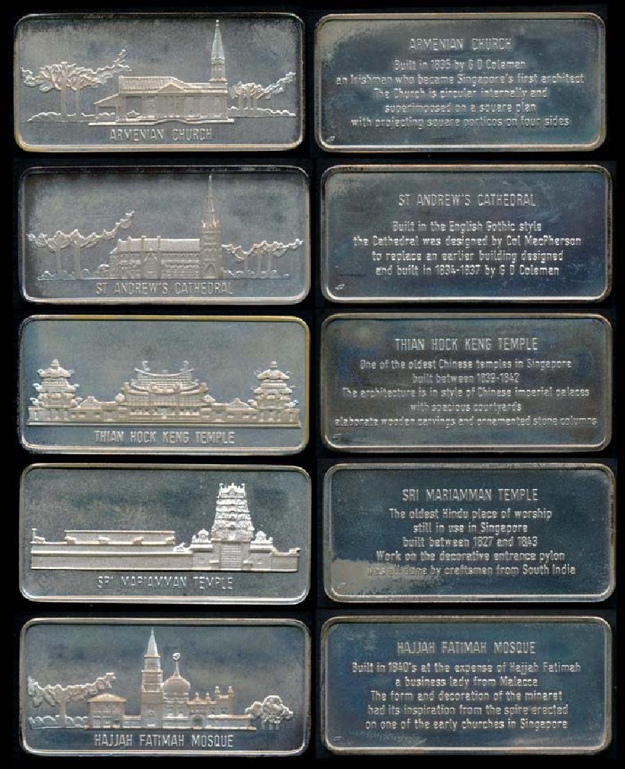 Singapore A collection of 5 silver ingots