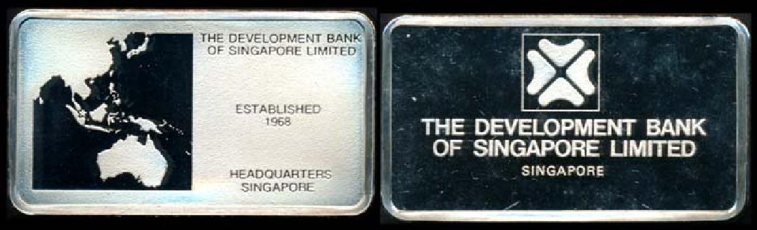 Singapore silver ingot 1974