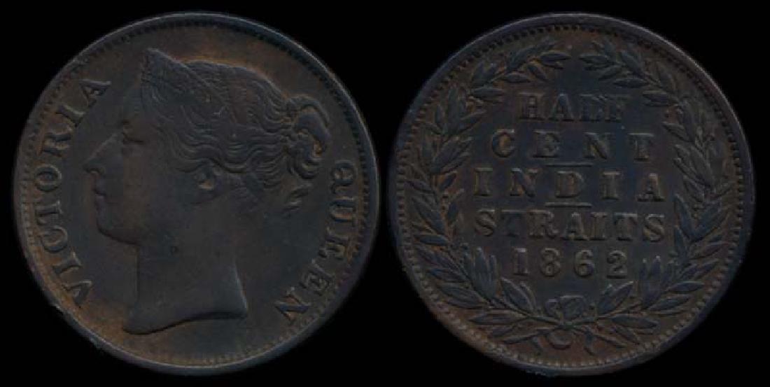Straits Settlements 1/2c 1862 AEF