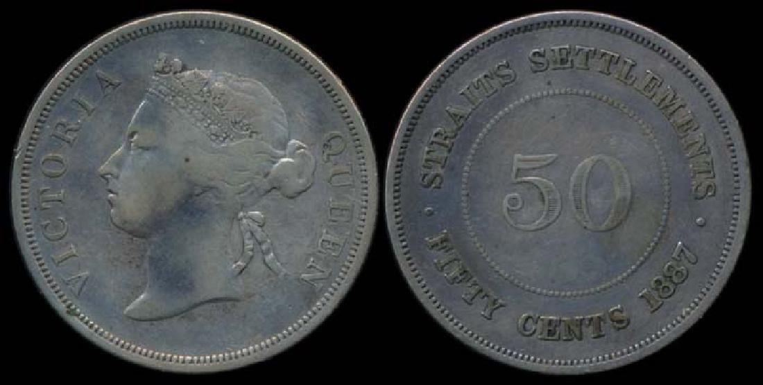 Straits Settlements QV 50c 1887