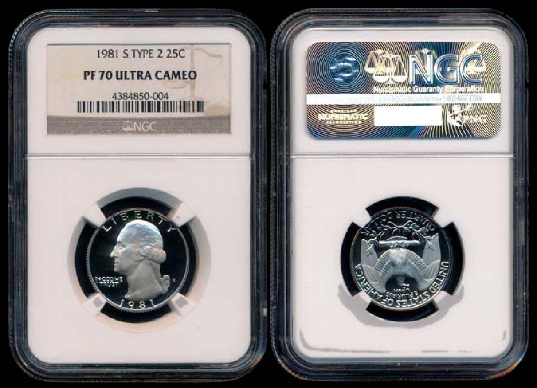 United States 25c 1981 NGC PF70UC