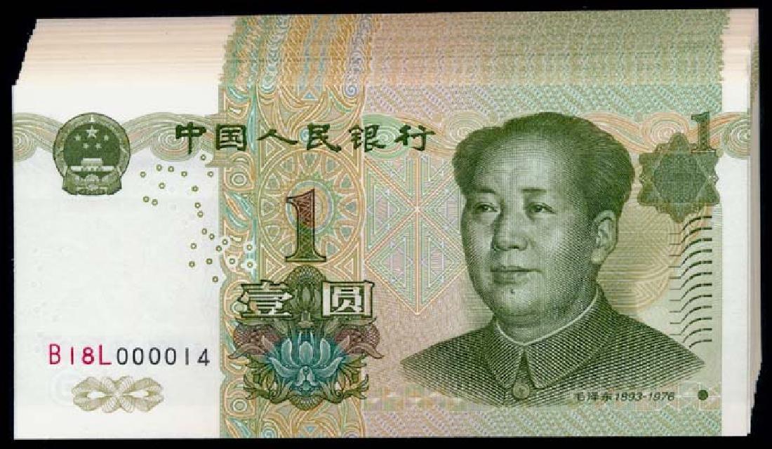China Peoples Bank 40x1 Yuan 1999