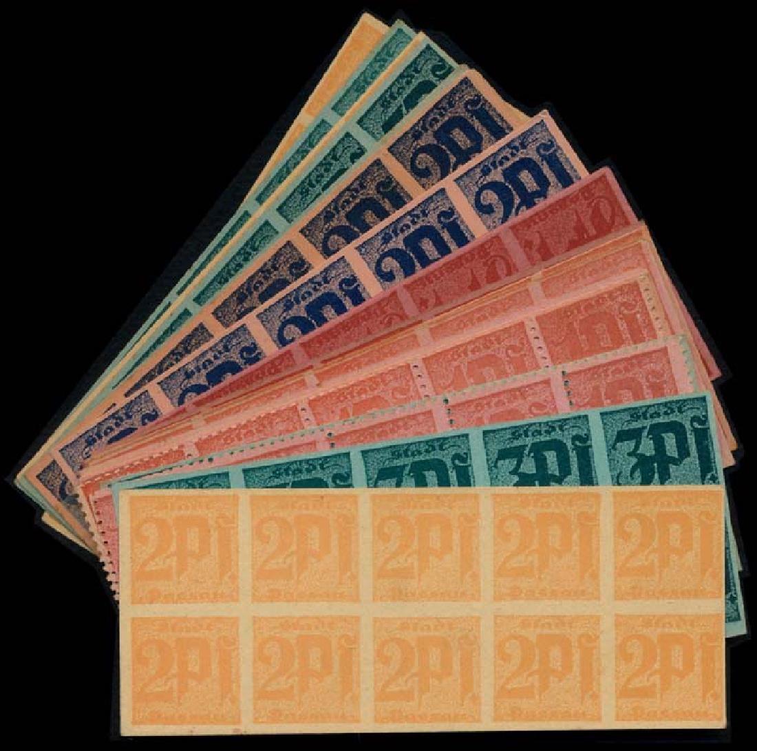 Germany 1918 22 blocks of 10 Notgeld notes