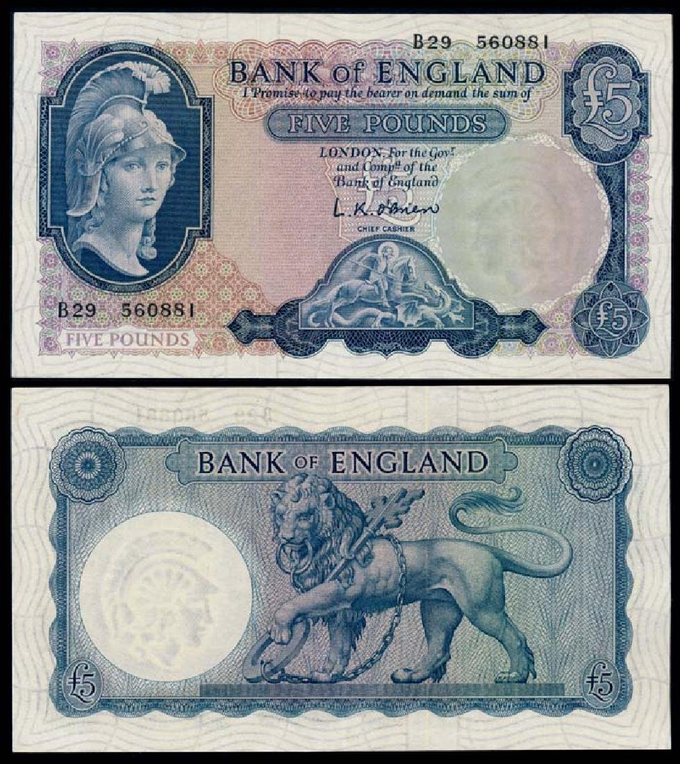 Great Britain 5 Pounds 1957-67 AU