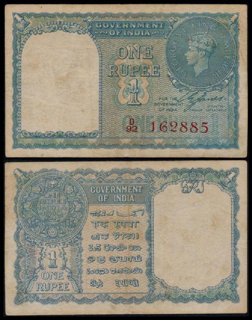 India Rupee 1940 KGVI AVF