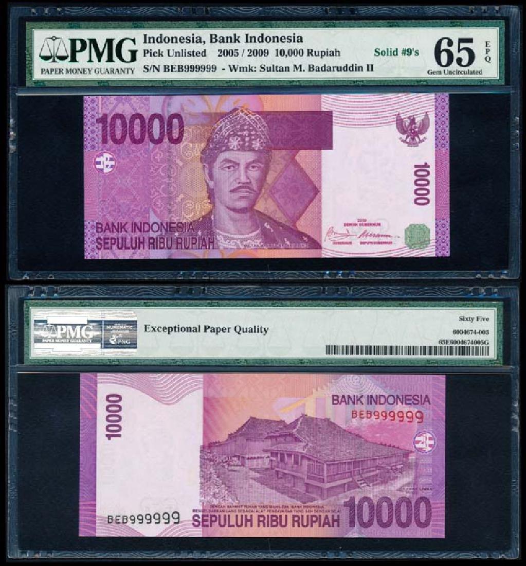 Indonesia 10000 Rupiah 2005/2009  BEB 999999