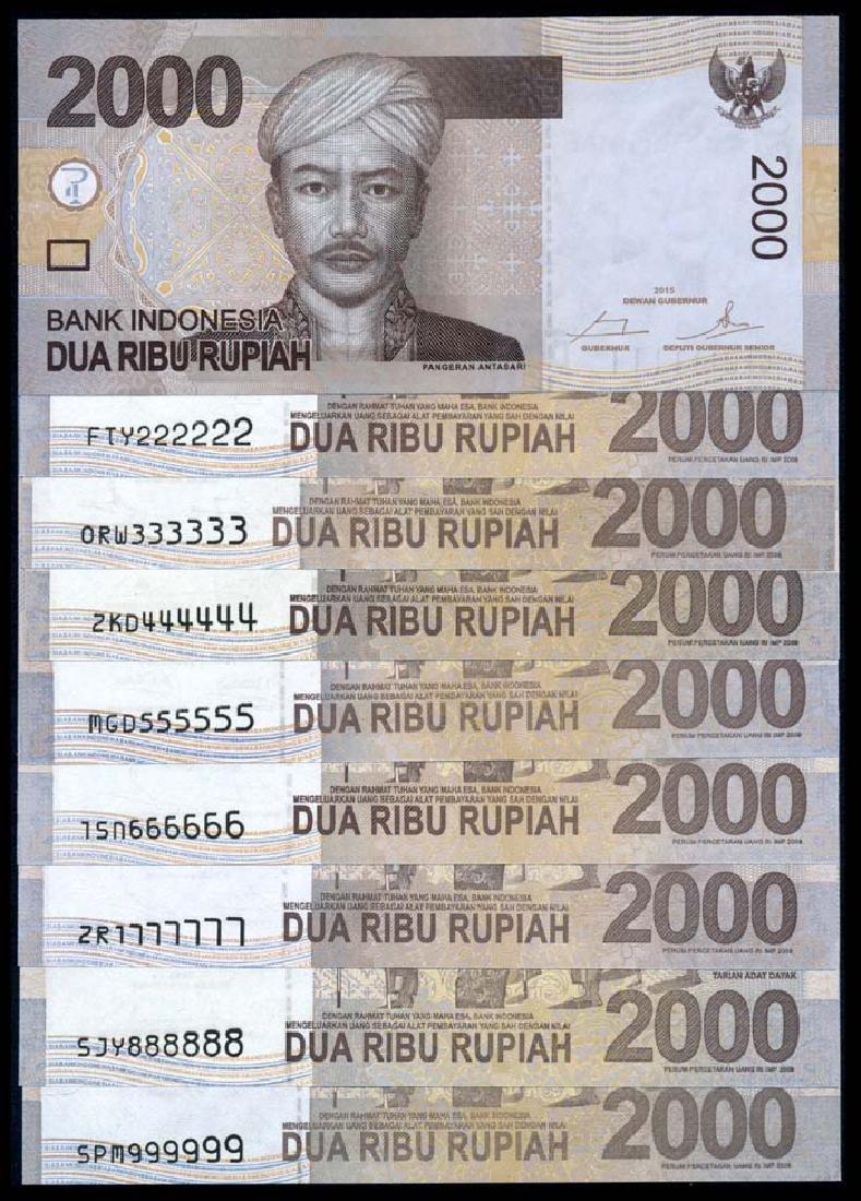 Indonesia 9x2000 Rupiah 2009-16