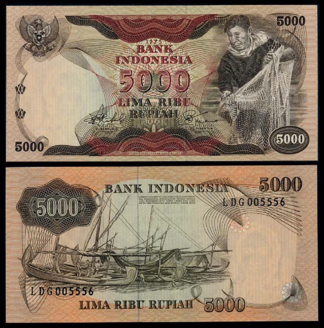 Indonesia 5000 Rupiah 1975 AU